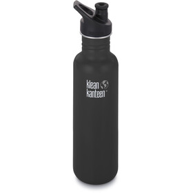 Klean Kanteen Classic Flaske Sport Cap 800ml, shale black matt